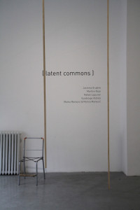 1. Latent commons, Rafael Lippuner