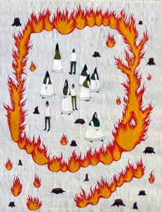 Fire circle with no escape, 2013, acrylic on canvas, 54 x 75 cm