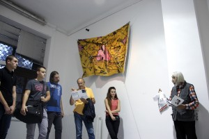 Public talk about exhibition with writer Branislav Prelević