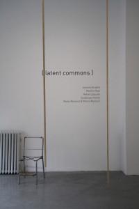 1. Latent commons, Rafael Lippuner