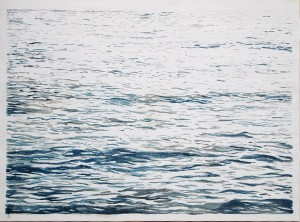 2. Into the Wave 1, 2013, Oil on canvas, 130x100cm