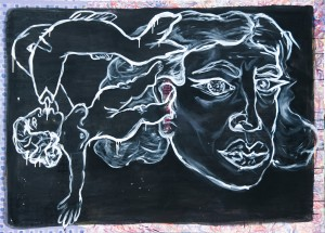 Bez naziva, 2014, akril na platnu, 180x140cm, foto - Luka Đurić