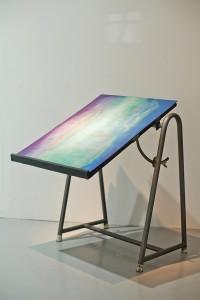 Lidija Delić, Soap Bubbles, Installation view, Oil on aluminum, 56x72cm, 2016