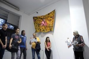 Public talk about exhibition with writer Branislav Prelević